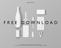FREE DOWNLOAD - PSD Object Mockup Pack Test Kit