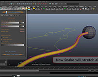as_EasySnake (Auto Snake Rigging Tools): Path Animation