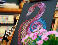 Flamingo Totem