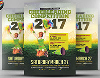 Cheerleading Competition 2017 Flyer Template