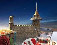 The Maiden's Tower (Turkish: Kız Kulesi) 3D Model