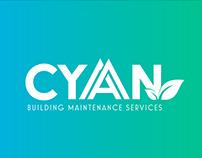 Cyan Building Maintenance branding