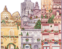 Italian cities at Christmas