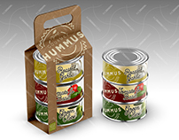 Mock Up Template: Packaging Sleeve for Cans / Tubs