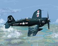 F4U Corsair 코르세어전투기