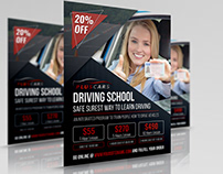 Driving School Flyer Template Vol.2