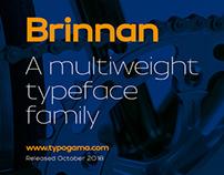 Brinnan typeface