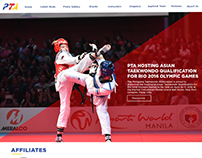 Philippine Taekwondo Official Website Design