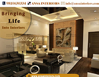 ANSA Interior Designers design your living room