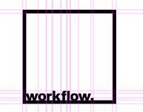 workflow. Graphic Design & Branding studio - identity