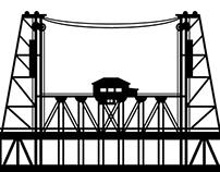 Airbnb - Portland Bridge Decals
