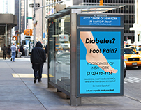 Foot Center of New York - NYC Bus Shelter Ad