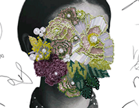 Flowerhead - embroidery sample