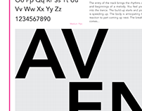 Avenir type specimen sheet
