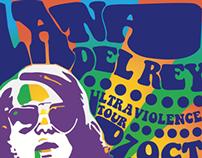 Psychedelic Lana Del Rey Concert Poster