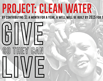 Postcard for a Non-Profit: Project Clean Water