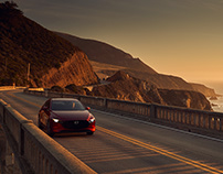 Pacific Coast Highway with the Mazda3
