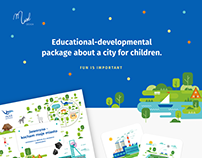Educational package about a city for children.