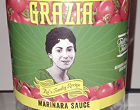 GRAZIA - Zia's Family Recipe Marinara Sauce Label