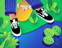 Vans, shapes and colors