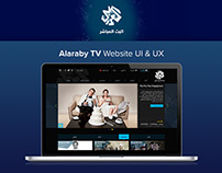 Alaraby TV website design