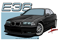D8 | BMW E36 /100 Years Illustrations/By DST
