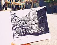 Sketching Porto, Portugal