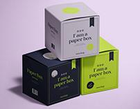 Square Paper Boxes Mockup