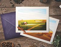 Landscapes. Set of vector illustrations