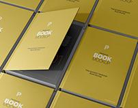 Free Isometric Hardcover Book Mockup