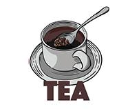 """Red Rice Tea """"Krisna Organic"""" Packaging"""
