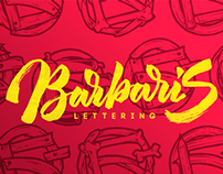 Lettering for BARBARIS