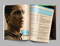 """Diseño páginas interiores, Revista """"Cinemaniacos"""""""
