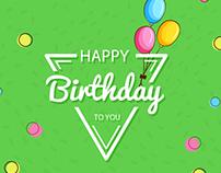 Birthday E mailers Template Design