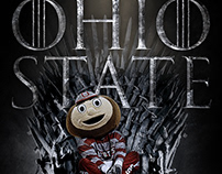 Ohio State Brutus Game of Thrones Poster
