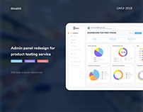 Admin panel redesign for product testing service