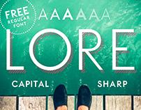 LORE – Geometric Font