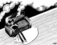"""Smoke up"" drawing/illustration"
