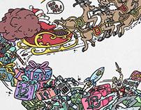 December Advent Coloring Wallpaper