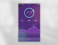 Running App UI Concept Design (w/ Animation)