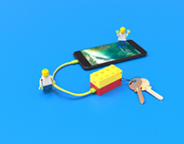 Lego stackable power bank