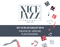 NICE JAZZ FESTIVAL POSTER (school 1-hour exam)