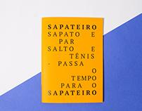 SAPATEIRO - Resgate de um ofício