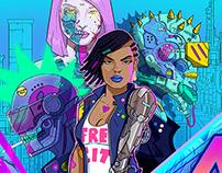 Neon Wasteland AR Comic Live Now!