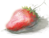 Digital Fruit Sketches