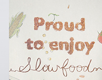 Proud to enjoy SLOW FOOD | Poster & Leaflet