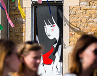 Girl - fresque peinte pour Superposition