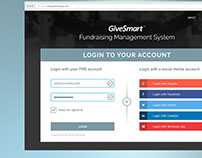 Givesmart / UI & UX / Dashboard / Web Design