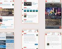LiveCenter: Mobile Web App UI Design Prototype