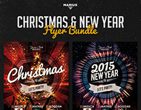 Christmas and New Year Flyer Bundle